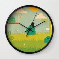 LILLL Monsters Wall Clock