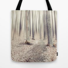 walking through the last days of autumn Tote Bag