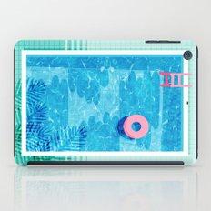Chillin' - poolside palm springs vacation resort tropical swim swimming retro neon throwback 1980s iPad Case