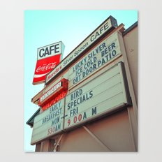 Marcia's Cafe Canvas Print