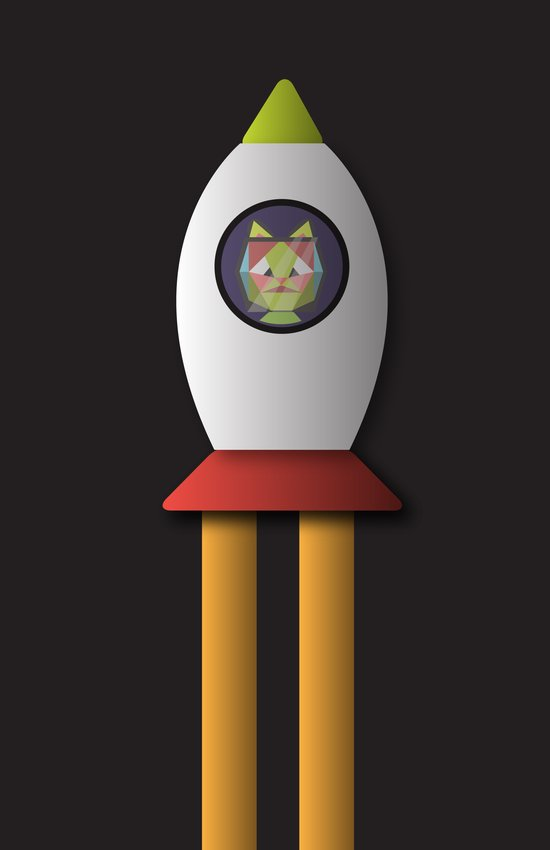 this is a cat in space. Art Print