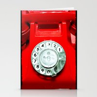 OLD PHONE - RED EDITION … Stationery Cards
