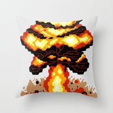 Digital Destruction Throw Pillow