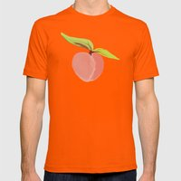 Peaches Mens Fitted Tee Orange SMALL