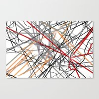 Unraveled Burberry Scarf Canvas Print