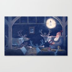 Goodnight reindeer Canvas Print