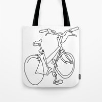 Blind Contour Bicycle Tote Bag
