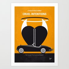No635 My Cruel Intentions minimal movie poster Art Print