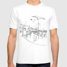 Brixham SMALL Mens Fitted Tee White