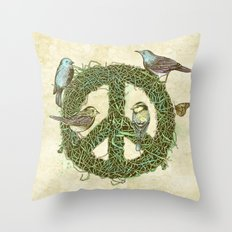 Peace Talks Throw Pillow