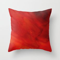 Red glass Throw Pillow