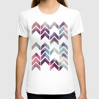 Chevron Dream Womens Fitted Tee White SMALL