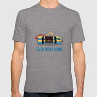 Even Ideas Bomb Mens Fitted Tee Tri-Grey SMALL