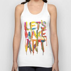 LET'S MAKE ART Unisex Tank Top