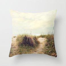 eat sleep beach Throw Pillow