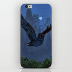 Owl In The Moonlight Sha… iPhone & iPod Skin