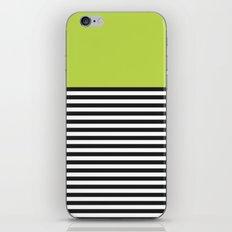 STRIPE COLORBLOCK {LIME} iPhone & iPod Skin