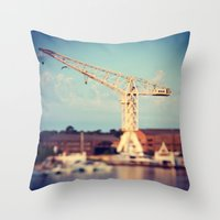 CRANK1 Throw Pillow
