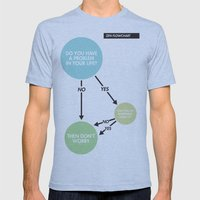 Zen Flowchart Mens Fitted Tee Athletic Blue SMALL
