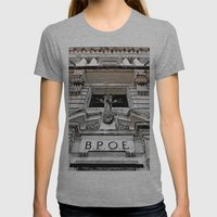 Historic Elks Lodge Womens Fitted Tee Athletic Grey SMALL