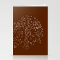 native american Stationery Cards featuring native american by johanna strahl