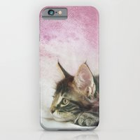 iPhone Cases featuring CAT by Monika Strigel