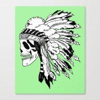 Black And White Native A… Canvas Print