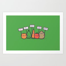 I hate vegans Art Print