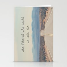 She Believed She Could S… Stationery Cards