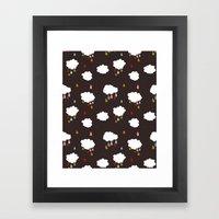 Rainclouds Black Framed Art Print