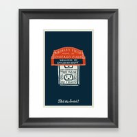 Flick The Switch Framed Art Print