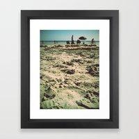 Beach Snooze Framed Art Print
