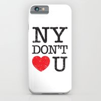 iPhone Cases featuring New York, New York by Text Guy