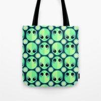 Sad Alien And Daisy Nine… Tote Bag