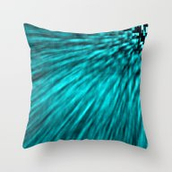 Teal Pixel Wind Throw Pillow