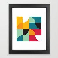 Squares & Curves Framed Art Print