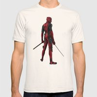 Deadpool Mens Fitted Tee Natural SMALL