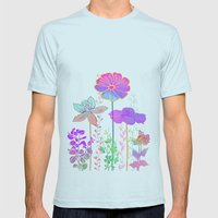 Flower Tales 3 Mens Fitted Tee Light Blue SMALL