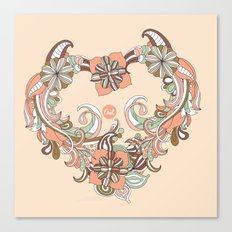 out heart Canvas Print