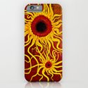 Psychedelic Susan 001, Sunflowers iPhone & iPod Case