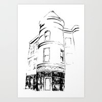 Architectural Corner Sketch Art Print