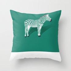Animal Kingdom: Zebra III Throw Pillow