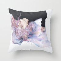 miss violence Throw Pillow
