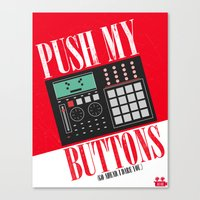 Push My Buttons Canvas Print