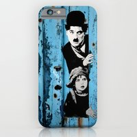 iPhone & iPod Case featuring Chaplin and the kid - Urban ART by ARTito