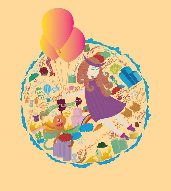 Ambrosia with balloon Art Print