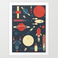 Art Print featuring Space Odyssey by Tracie Andrews