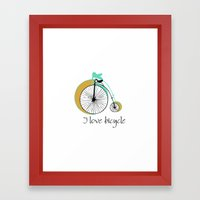 I Love Bicycle Framed Art Print