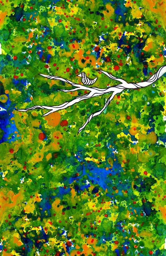 Bird out the Bush Art Print
