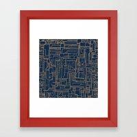 Electropattern Framed Art Print
